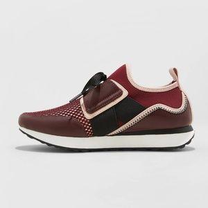 "New Women's Lace Up Sneakers ""Deena"" Burgundy"